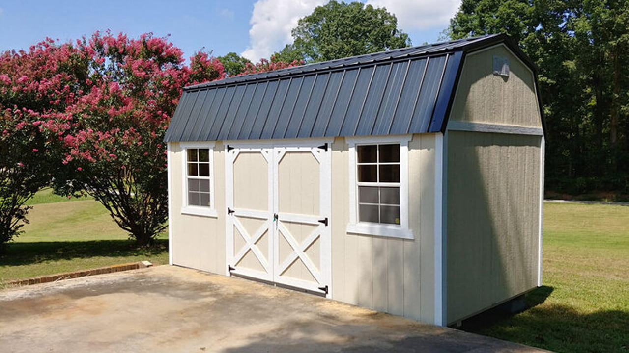 Painted Lofted Barn with Windows